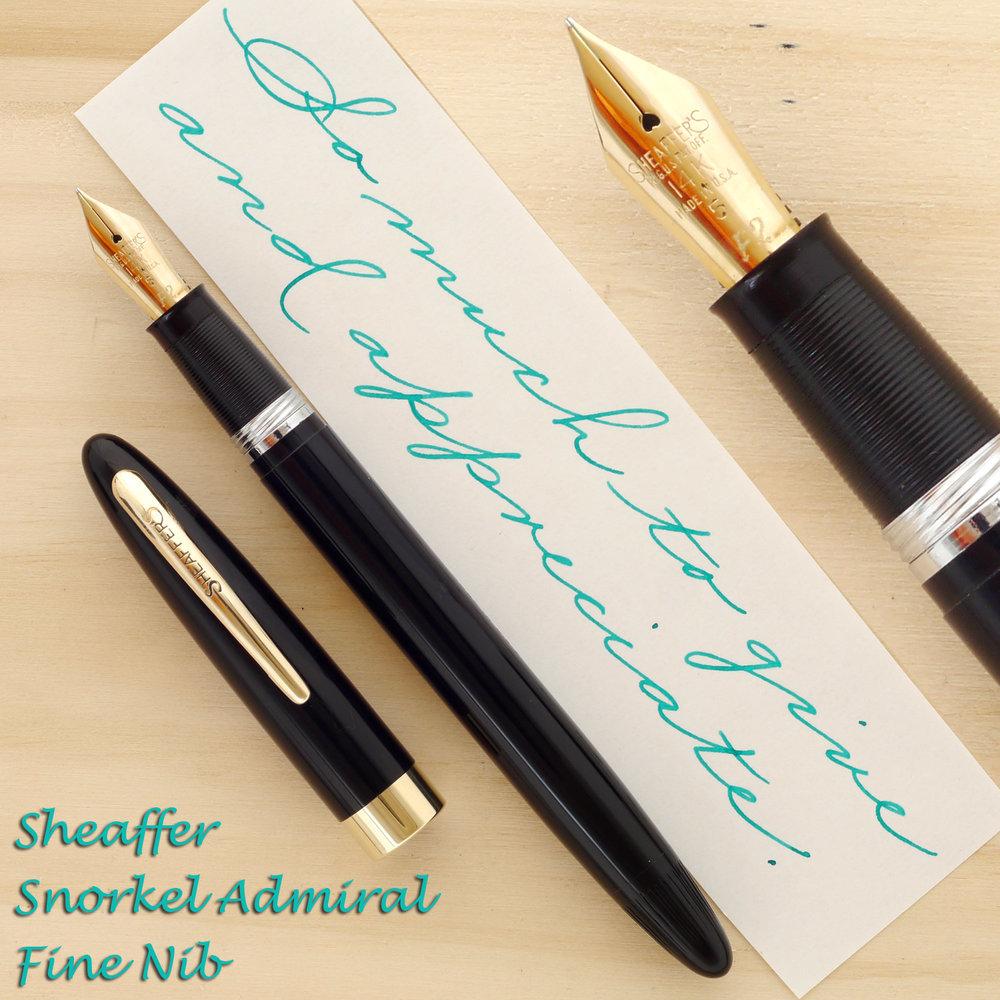 Sheaffer Snorkel Admiral, F
