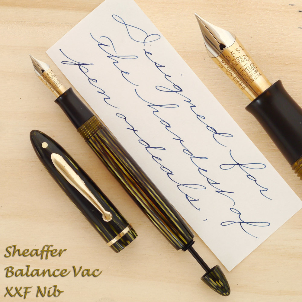 Sheaffer Balance Vac, XXF Nib