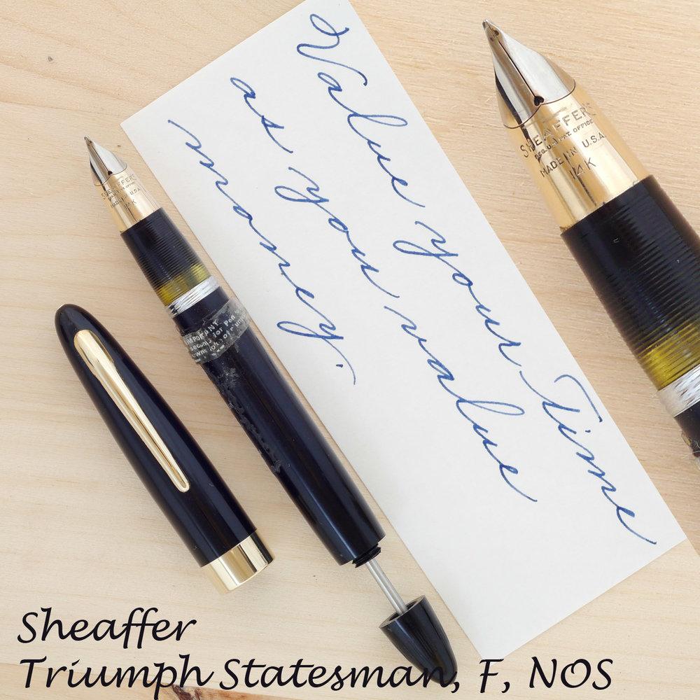 Sheaffer Triumph Statesman NOS, F