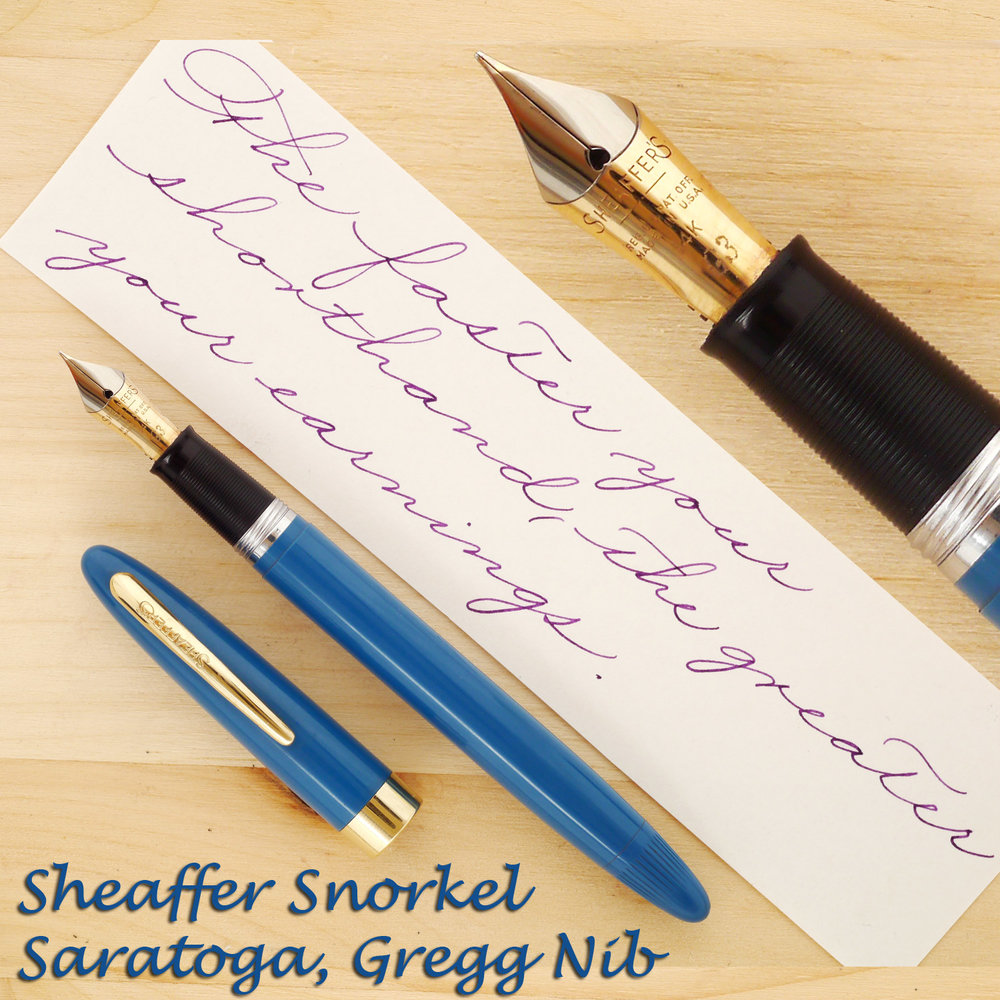 Sheaffer Snorkel Saratoga with a Gregg Nib, uncapped