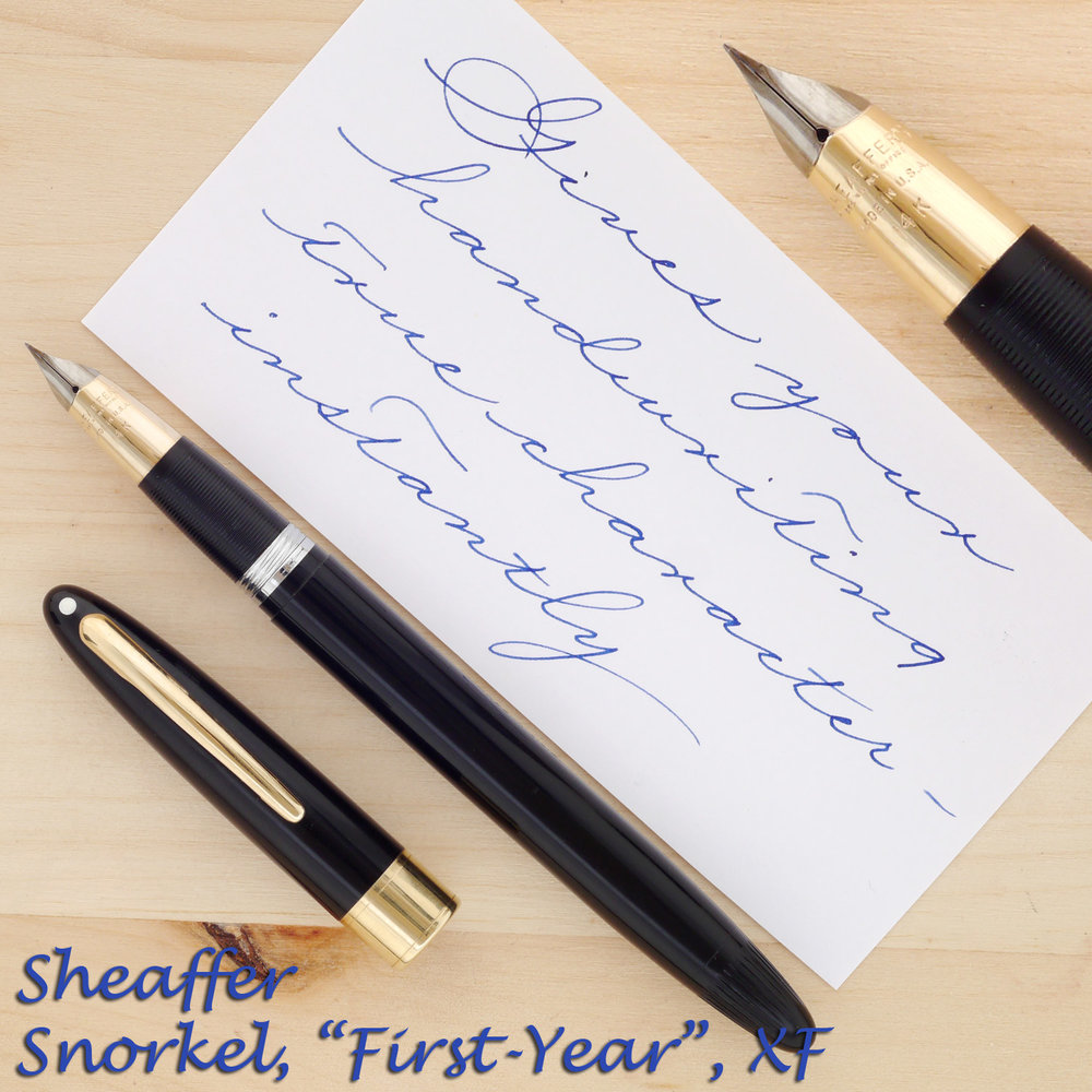 Sheaffer Snorkel Valiant, First-Year, XF with the cap off