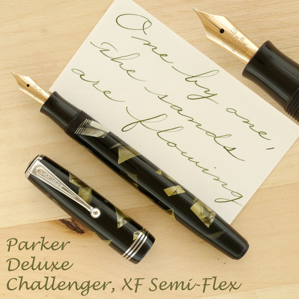 Parker Deluxe Challenger XF Semi-Flex, with the cap off