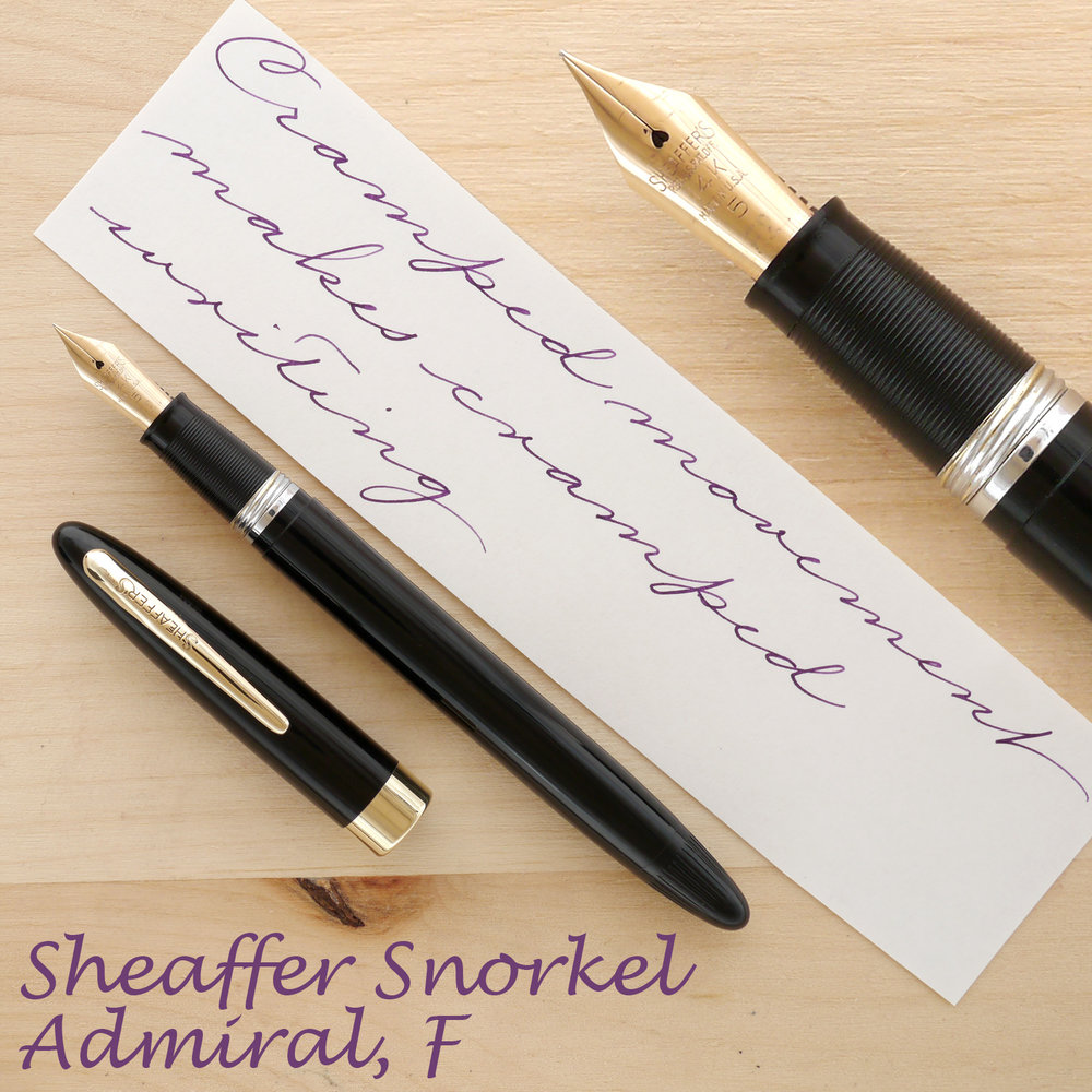 Sheaffer Snorkel Admiral, Black, F, uncapped