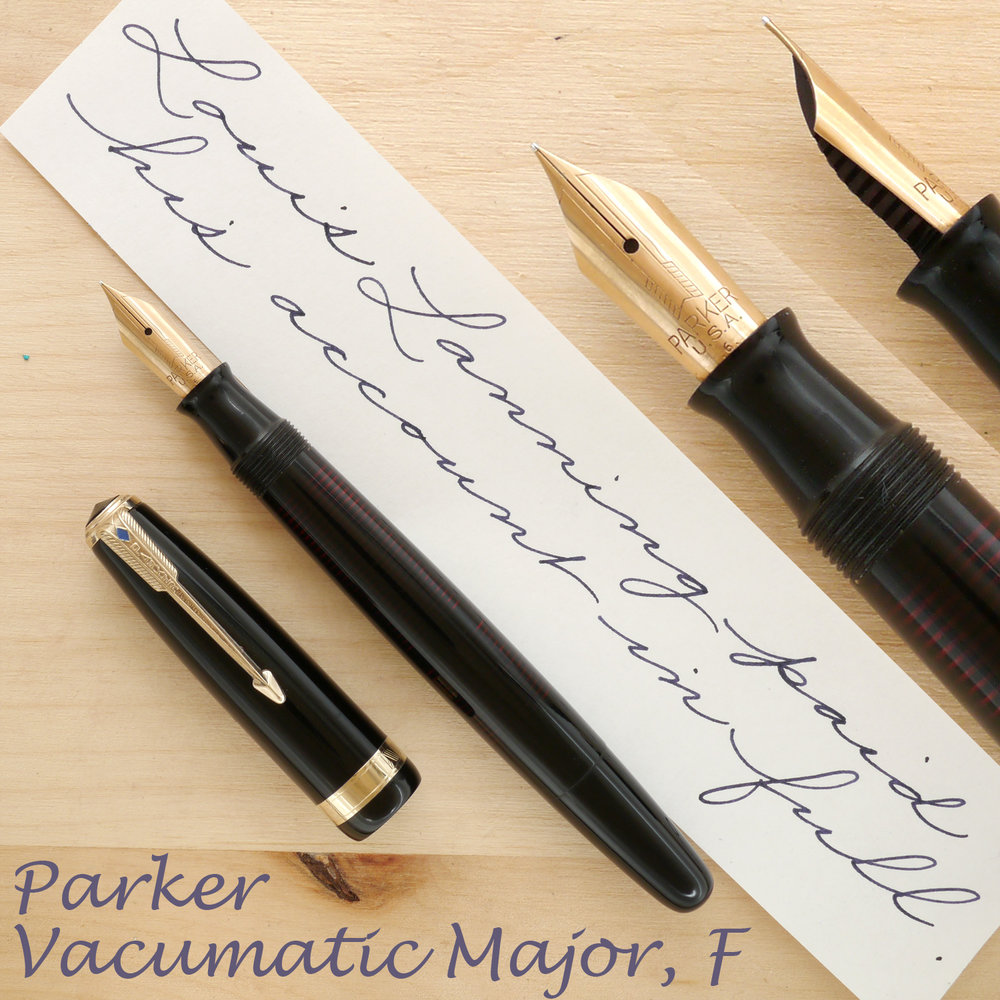 Parker Vacumatic Major, Black, F, uncapped