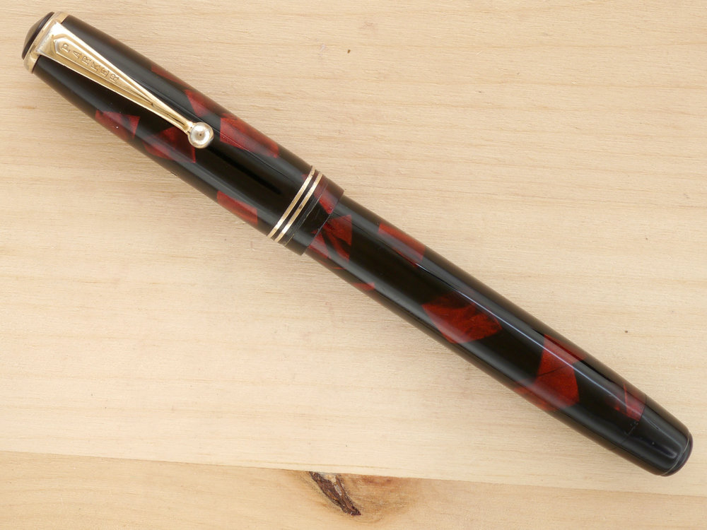 Parker Deluxe Challenger, Red Marble, M, capped