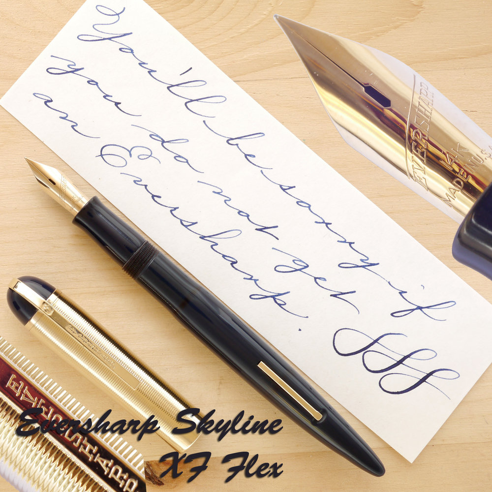 Eversharp Skyline Navy Blue, XF Flex, uncapped