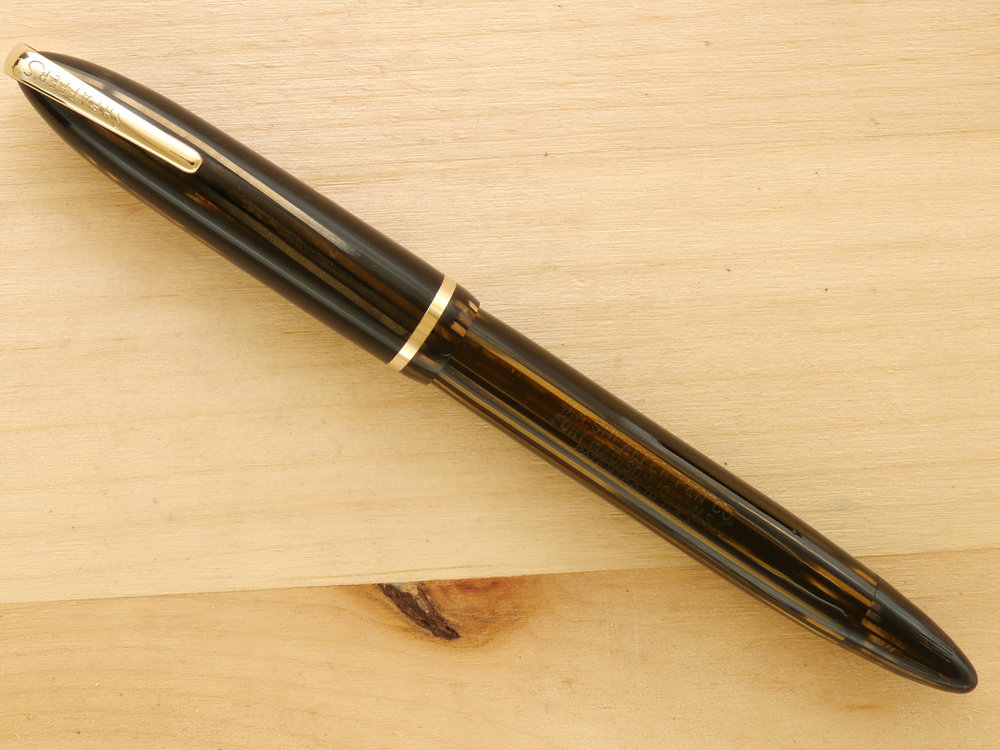 "Sheaffer Balance ""Vigilant"" Military Golden Brown, XXF, capped"
