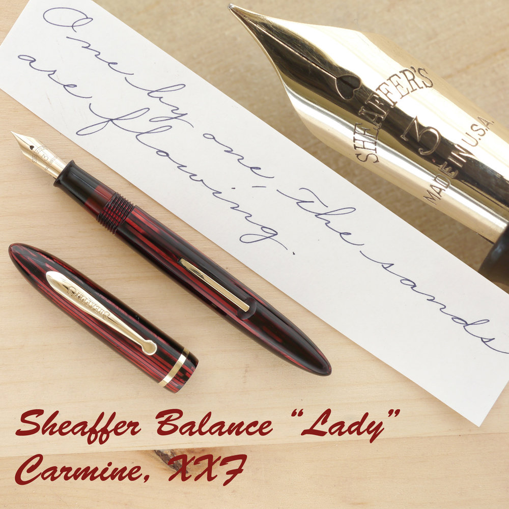 "Sheaffer Balance ""Lady"" Carmine, XXF, uncapped"