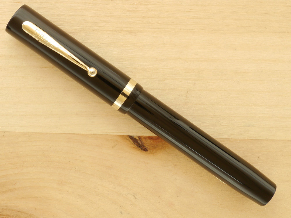 Sheaffer Flat-top Oversize, Black, XF Wet Noodle, capped