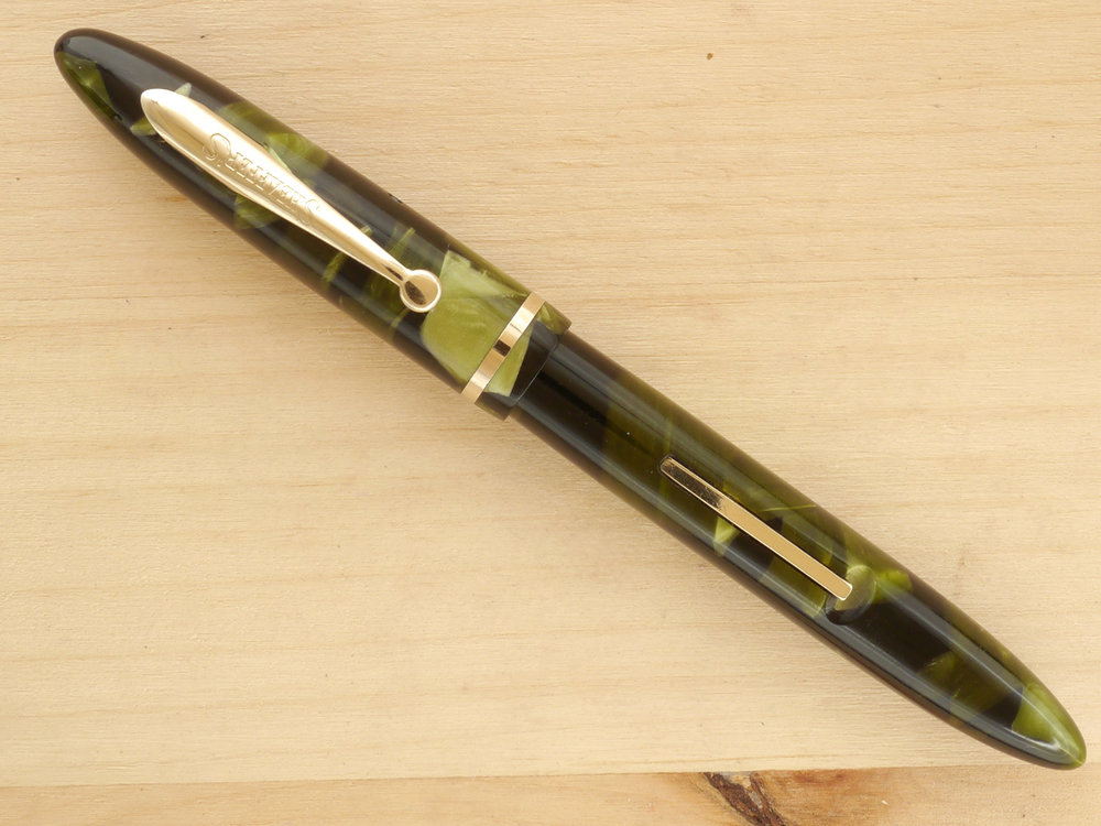Sheaffer Balance in Marine Green, F, capped