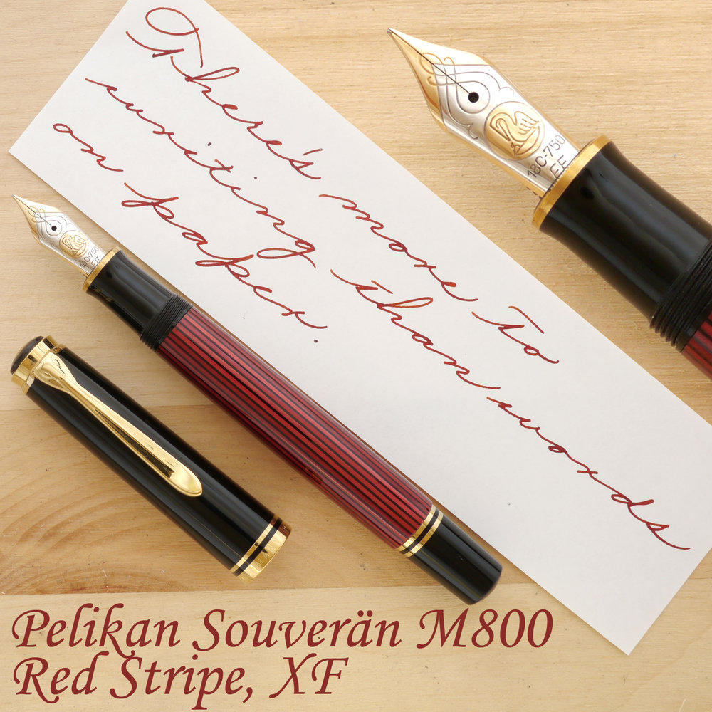Pelikan Souverän M800, Red Stripe, XF, uncapped