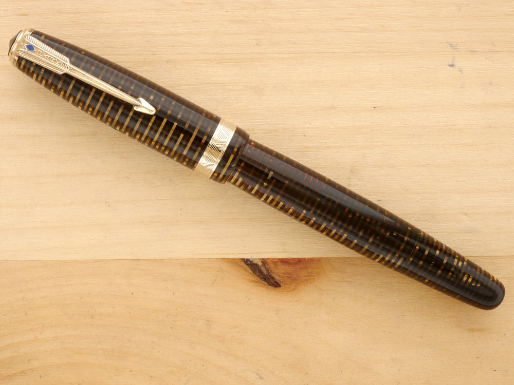 Parker Vacumatic Major, Golden Pearl, F, capped