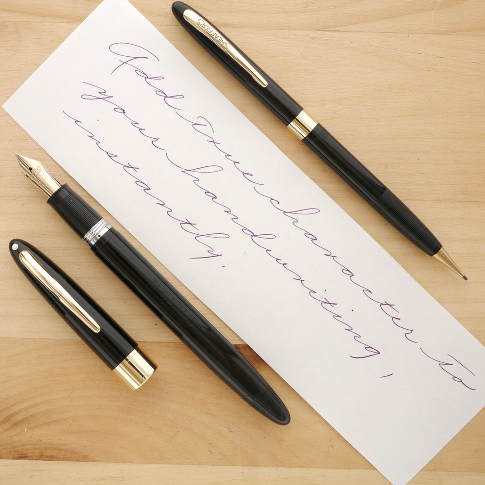 Sheaffer Snorkel Admiral Fountain Pen and Pencil Set, XXF, uncapped