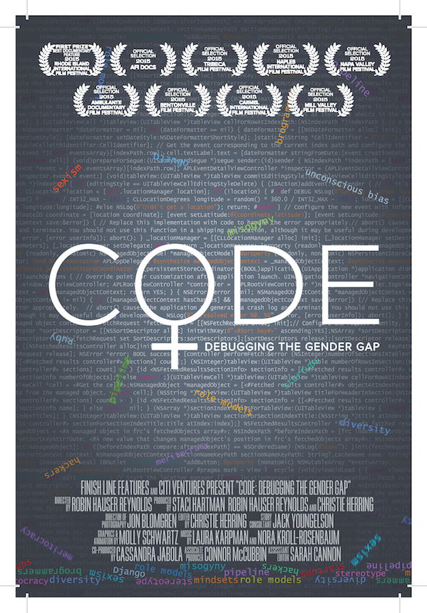 The event features a special preview screening of CODE: Debugging the gender gap documentary, by the American Film Showcase
