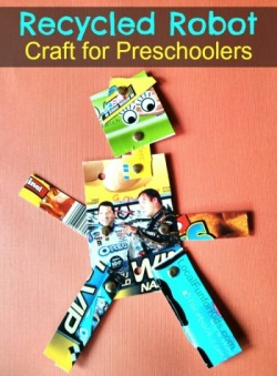 Recycled Robot Preschool Craft Using Cereal Boxes Local Fun For Kids