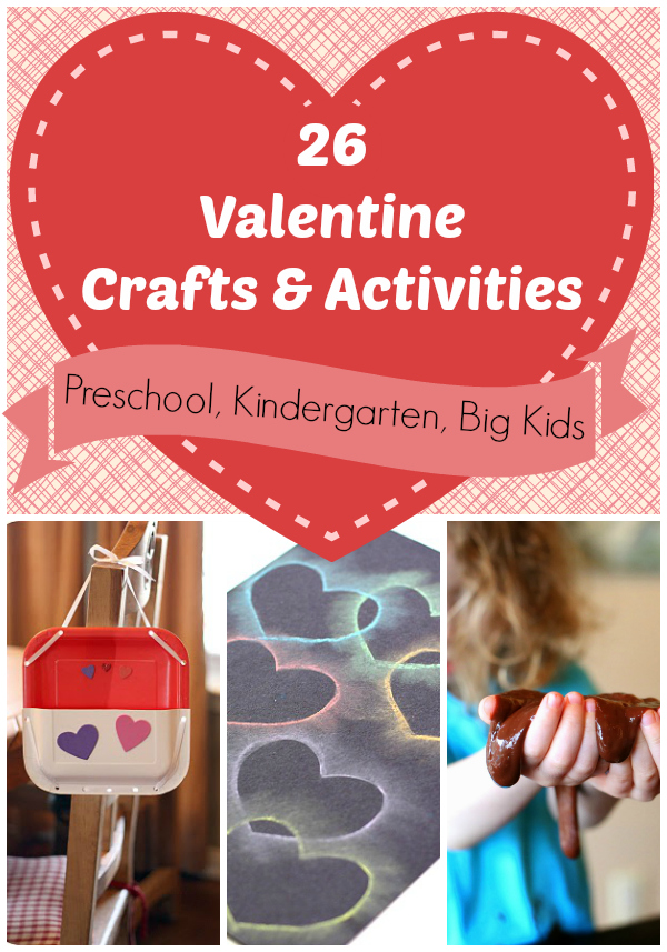 Valentine 39 s day crafts for preschool kindergarten age for Valentine crafts for preschool