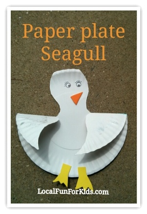 The last step is just adding detail. Add little feet a beak and eyes. If you have silver glitter it looks great on the wings too! Doesnu0027t it look cute? & Preschool Summer Bird Craft: Paper Plate Seagull u2014 Local fun for kids