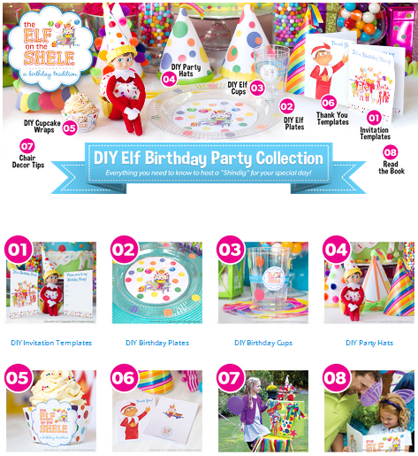 4 print off everything you need for your elf on the shelf birthday party below is a screen shot of everything that is available on their website