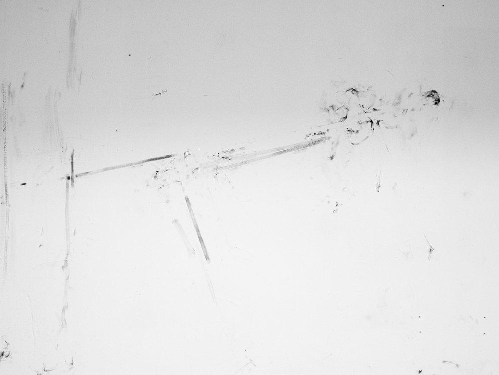 Gun Drawing  | graphite powder residue | 48INx60IN