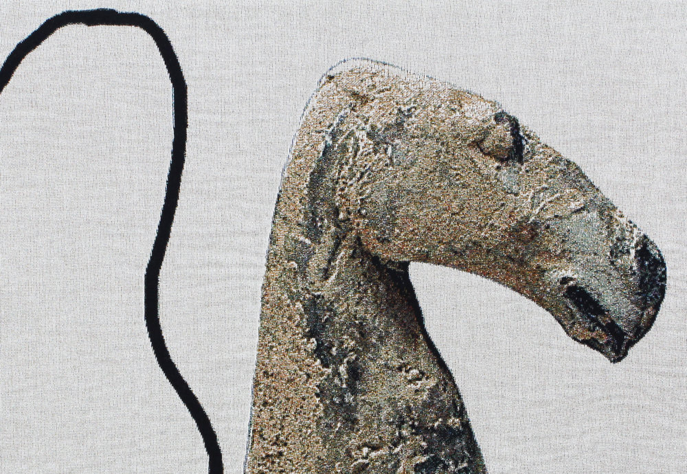 Detail: A riderless horse has no legs : detail | woven digital tapestry | 60INx80IN