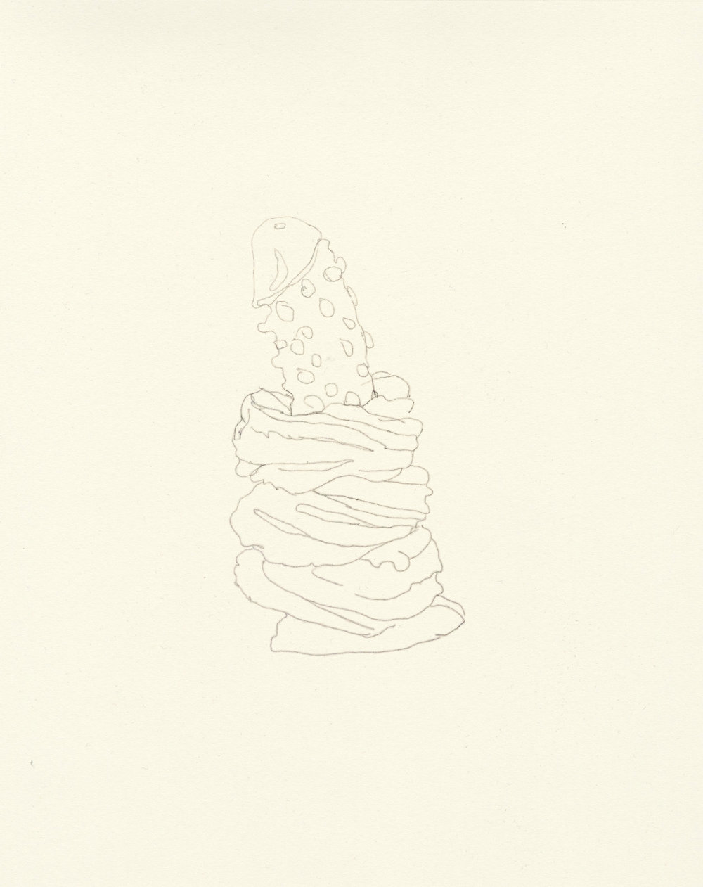 My Boyfriend is a Peacekeeper xxvii  | graphite on paper | 9.5INx12IN    Excerpt from My Boyfriend is a Peacekeeper Book ii : I masturbated and had my first donut in months. Not in that order.