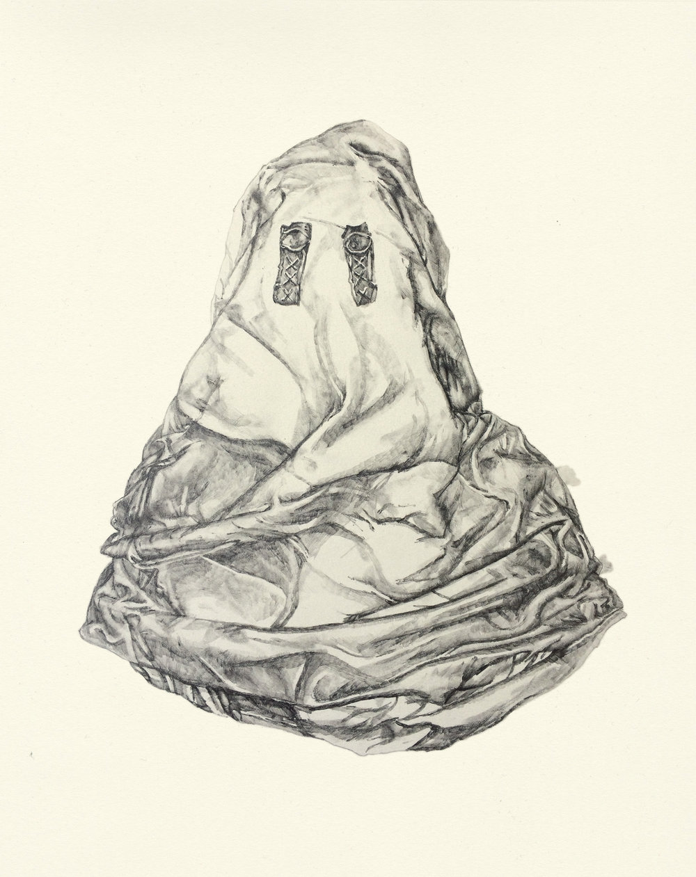 My Boyfriend is a Peacekeeper xxxi  | graphite on paper | 9.5INx12IN    Excerpt from My Boyfriend is a Peacekeeper Book ii : Flat like a shark, one of Melville's ungoverned angels. These visions don't frighten me anymore. They are just different configurations. I have seen so many iterations of the body.