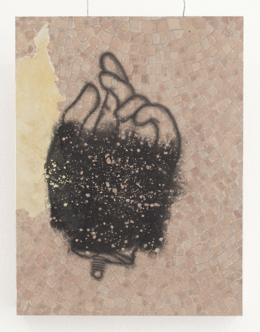 Hand reliquary | graphite and acrylic on panel | 7INx9IN