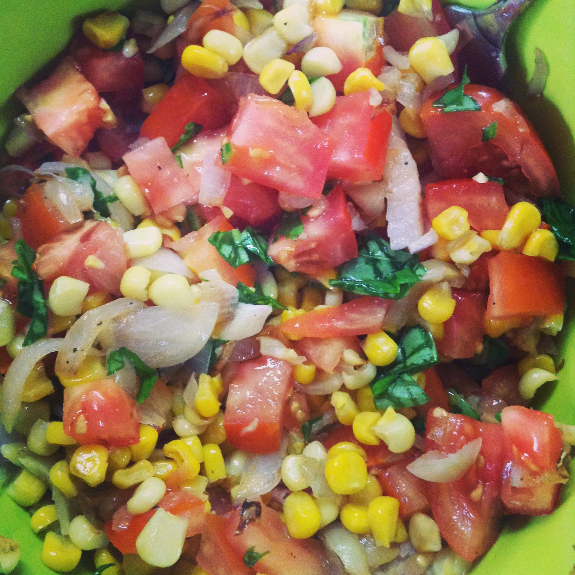Corn and Tomato Saute Salad