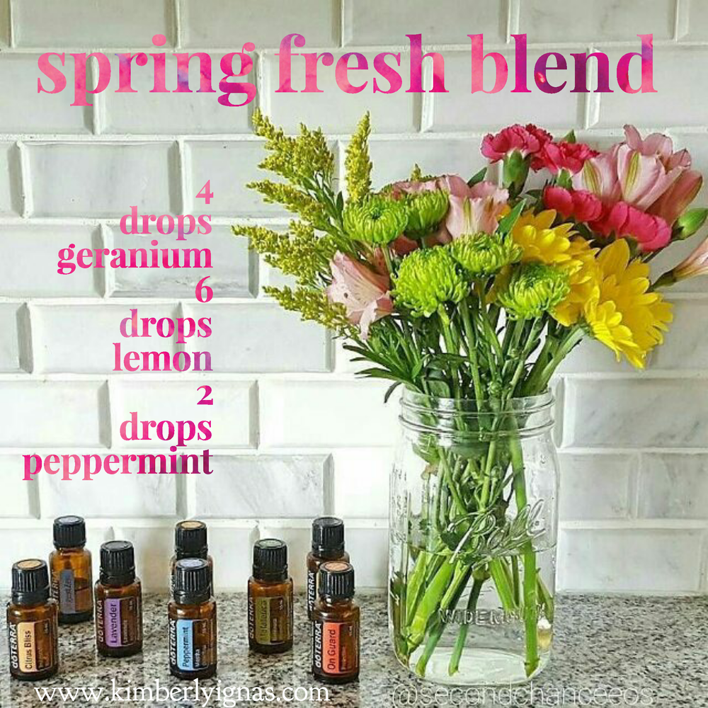 """SPRING IS HERE. My 5 year old is so excited to tune up his bike and put winter clothes away.  This is a refreshing blend to help clean up the air, perk you up, balance your hormones and get you pumped for the day ahead.   """"The spring wakes us, nurtures us and revitalizes us. How often does your spring come? If you are a prisoner of the calendar, it comes once a year. If you are creating authentic power, it comes frequently, or very frequently. """"Gary Zukav    Spring fresh  2 peppermint 4 geranium 6 lemon  Roll on the back of your neck and pulse points."""