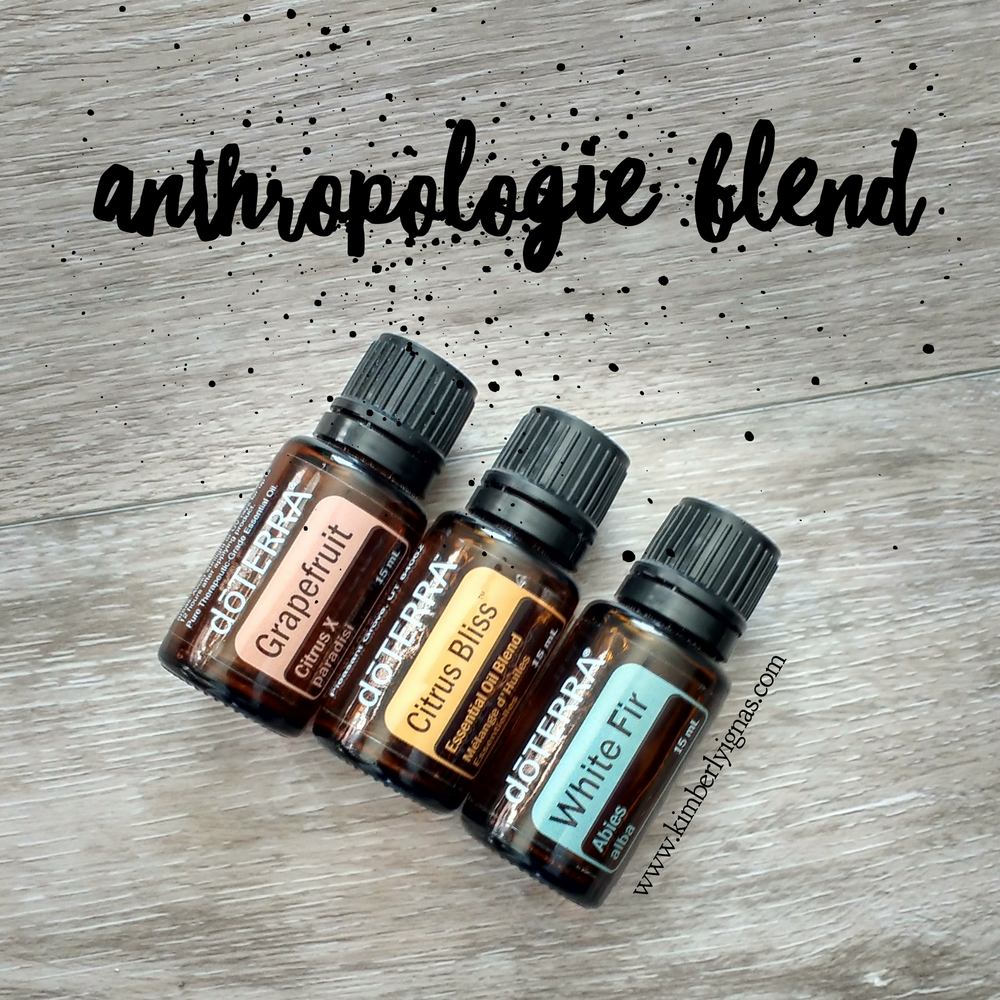 I wouldn't call myself a hipster but I sure do love going into anthropolgie when I'm in Toronto. The clothes, the home decor, the bowls and plates all have this visual girl giddy. That being said if you have been in the store you will love this blend.  You will LOVE this uplifting and happy blend. 3 Grapefruit 2 Citrus Bliss 1 White Fir  Enjoy! This is an especially great blend for morning time too!