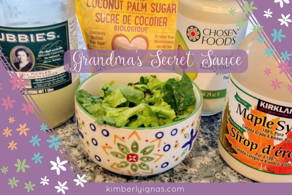 Grandmas salad dressing