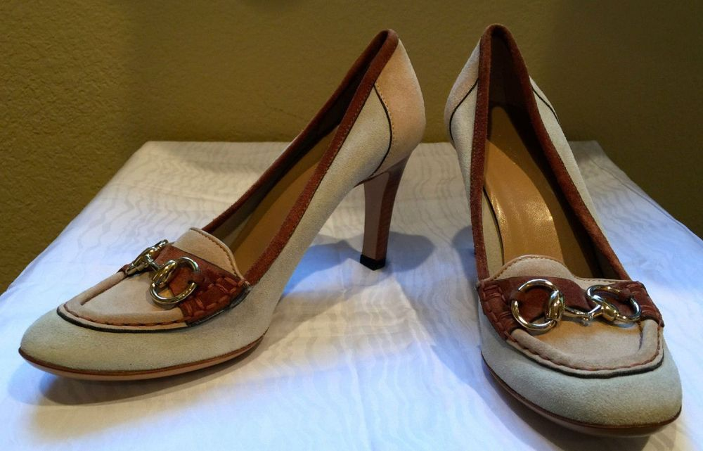 Gucci Tan Horsebit Pumps.jpg