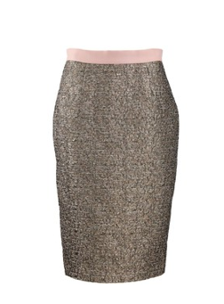 By Malene Birger Dull Gold Dandes Pencil Skirt.png