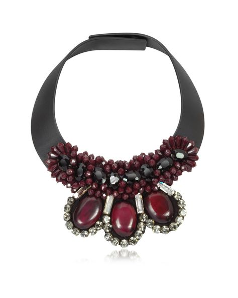 Marni Multi Colored Dark Red Horn Necklace.jpg