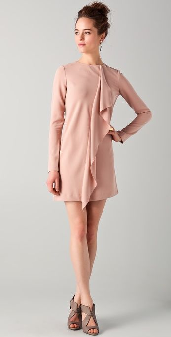 Tibi Draped Shift Dress.jpg