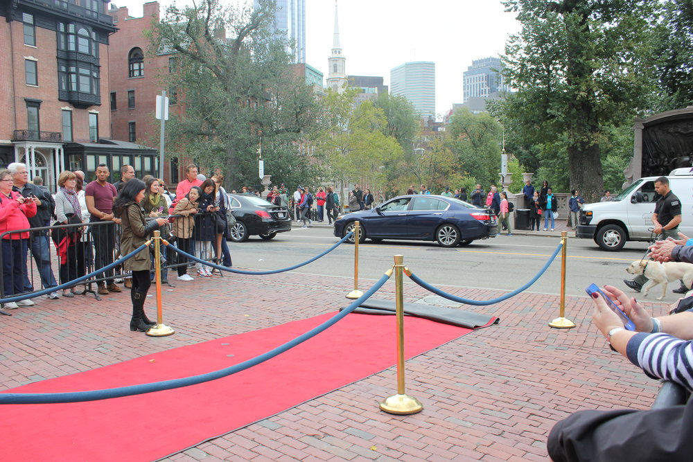 So close to the red carpet!