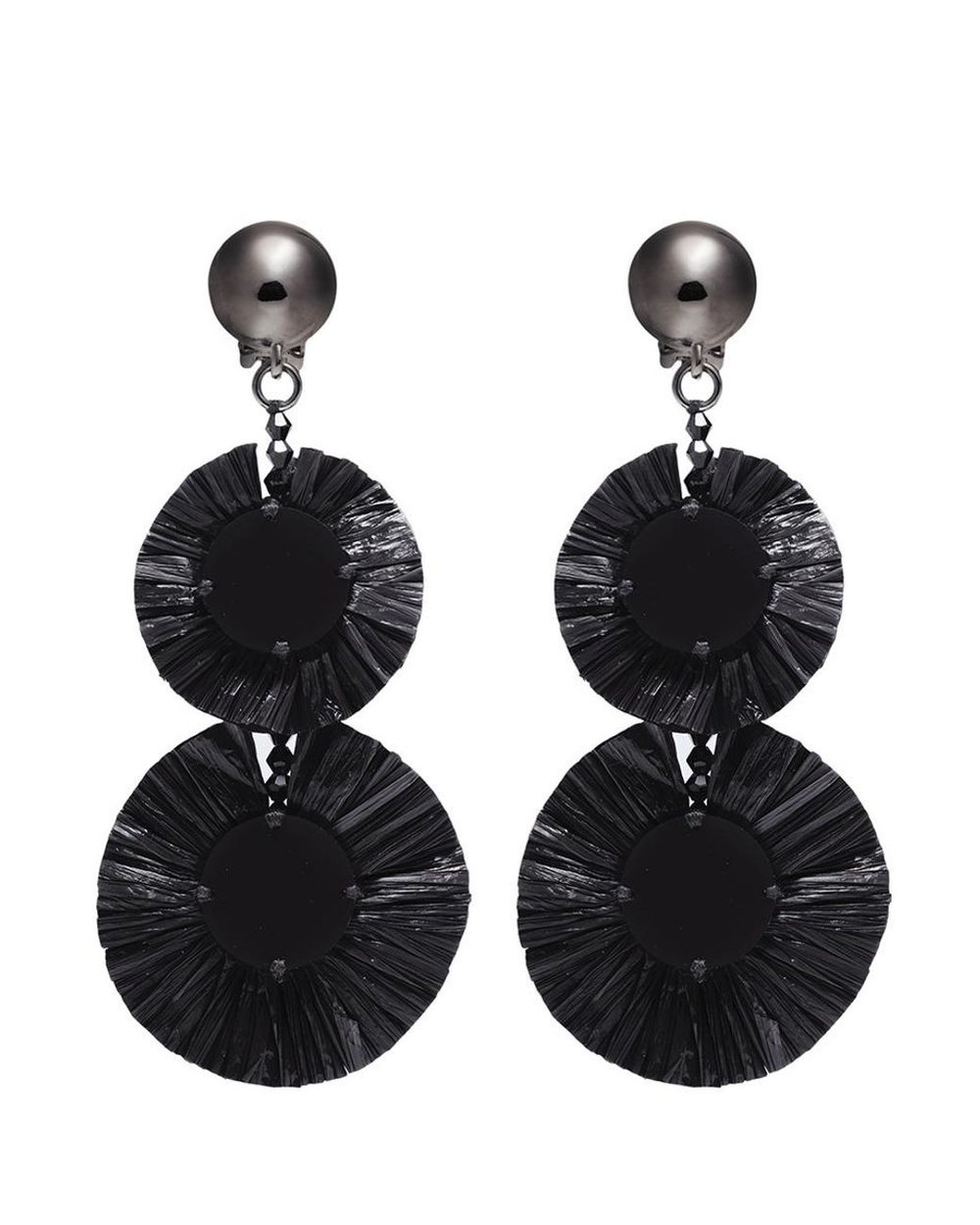 oscar-de-la-renta-BLACK-raffia-Disk-Tiered-Drop-Clip-Earrings.jpg