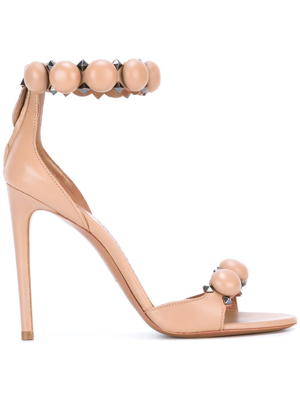 Alaïa Bombe 110 Studded Leather Sandals