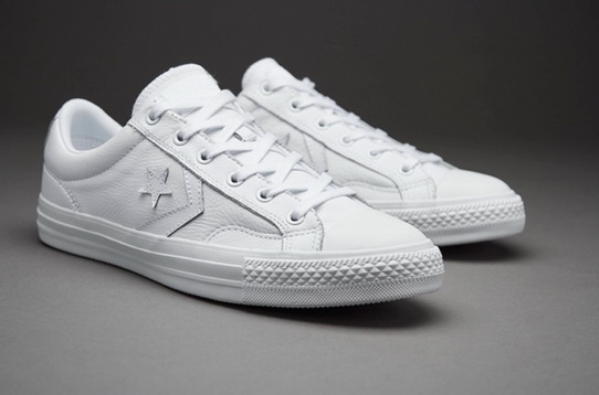 converse leather mujer blancas
