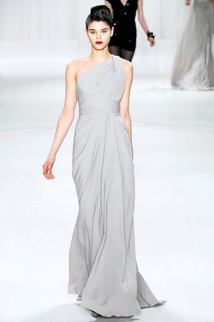 Elie Saab Fall 2009 One Shoulder Draped Gown The Royals And I