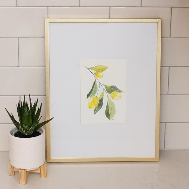 GIVEAWAY TIME!! 🍋  I am absolutely in love with this original lemon watercolor painting by the very talented Kate over at @hammer_kate!  It found at home in one of my favorite target frames, and now lives in our kitchen. There's just something about lemons that brings me joy. Anyone else? 🍋  Kate is giving away a print of this painting to one lucky winner. All you have to do to enter is: 1️⃣ like this post 2️⃣ like @hammer_kate 's profile & 3️⃣ leave a comment in this post saying you did. I'll draw a winner on this Wednesday, April 3 at 6 pm CST.  Good luck! 🍋  P.S. Kate also has an Etsy shop (Kate Hammer Studio) where you can shop all her beautiful prints. See more in my stories!