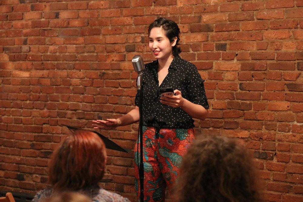 Reading at Brooklyn Poets summer workshop showcase