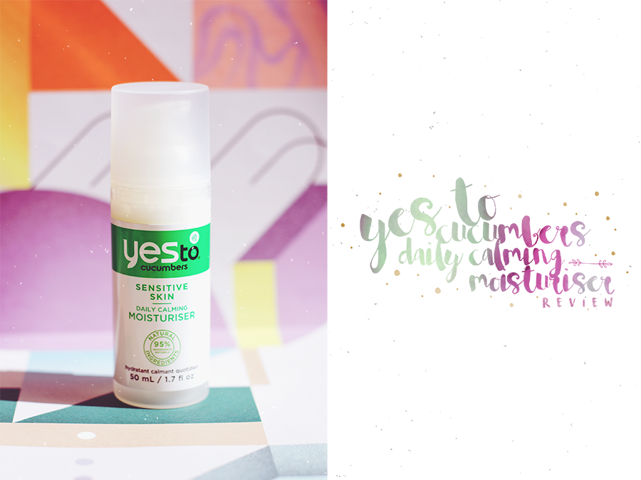 Yes To Cucumbers Daily Calming Moisturiser Natural Organic Cruelty Free