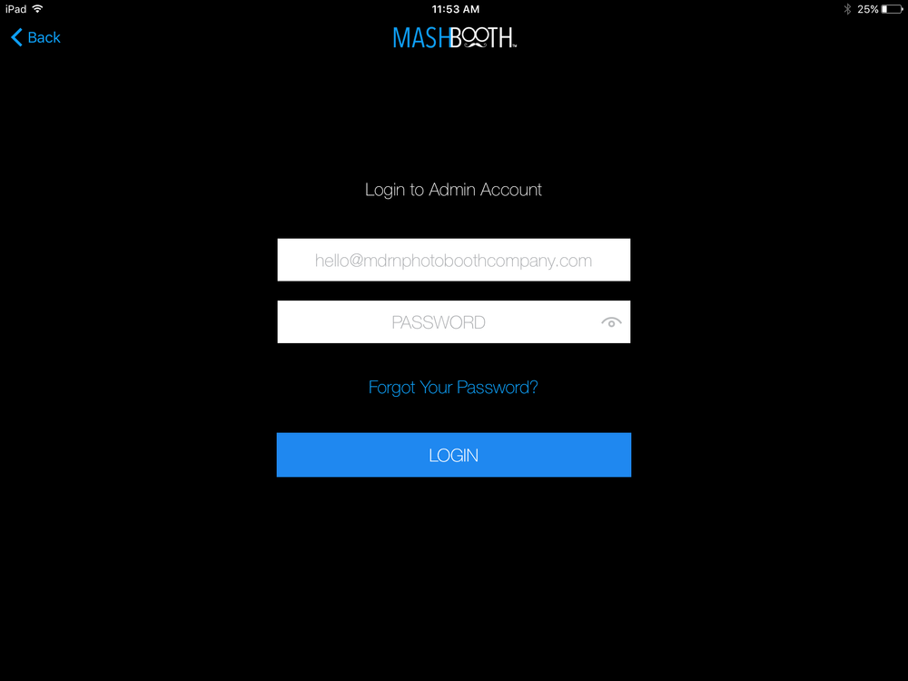 MASHBOOTH LOGIN