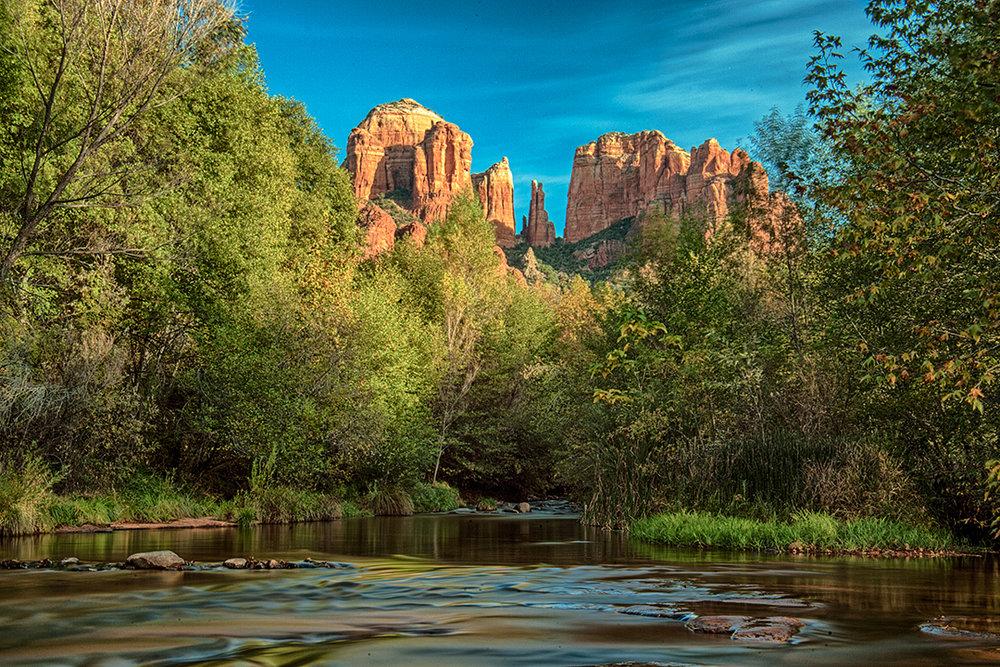 Cathedral Rock at Oak Creek Sedona Arizona. Arizona Travel Photography