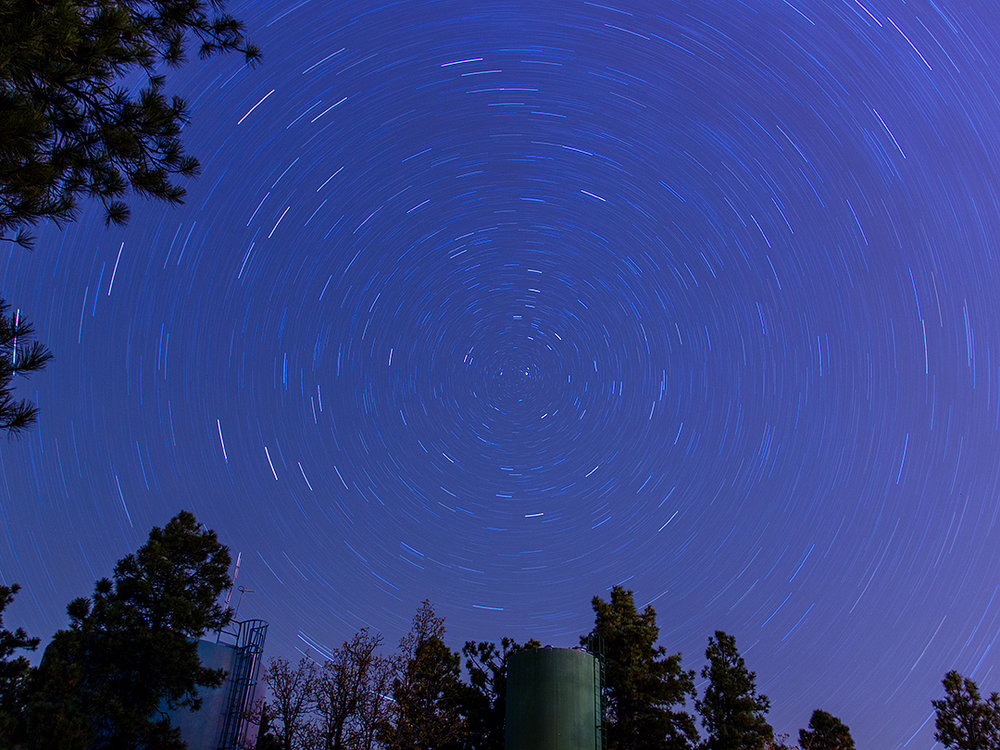 Star Trails North Star Lowell Observatory. Flagstaff Arizona - Travel Photography