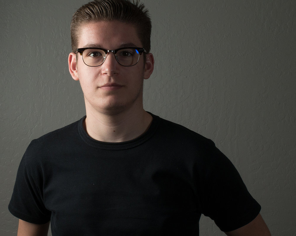 Ryan - A Portrait. Taken with Canon Powershot G16, 2 Speedlites, Lastolite Softbox
