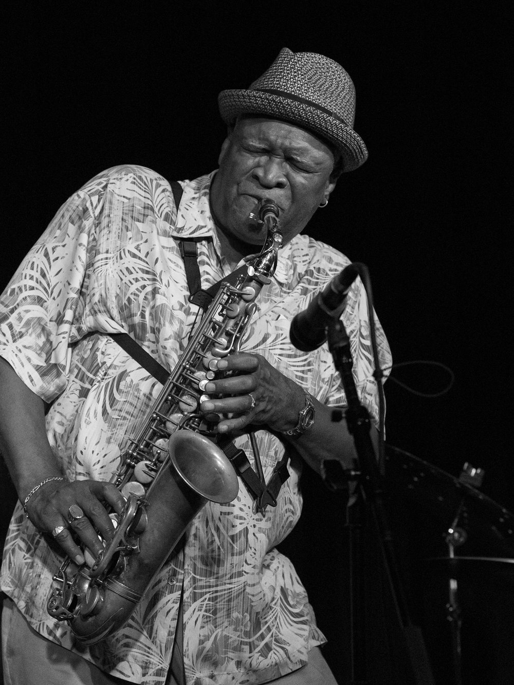 Bobby Watson plays the saxophone at The Nash jazz club, Phoenix Arizona.