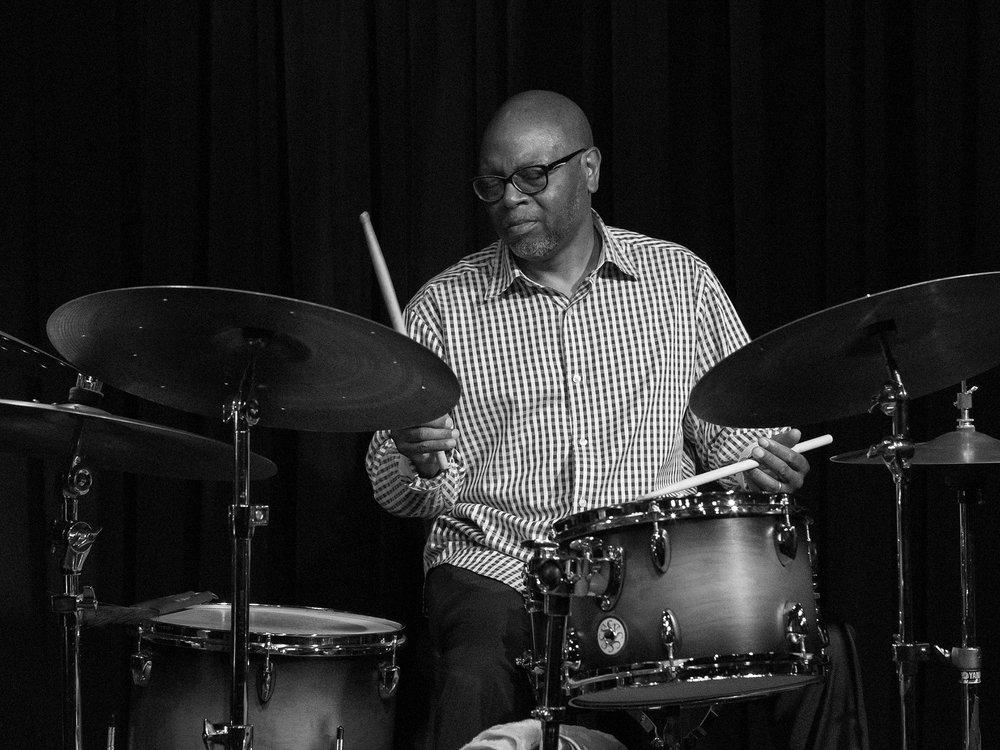 Drummer Lewis Nash Sunday evening with the Bobby Watson Jazz Quartet at The Nash Phoenix.