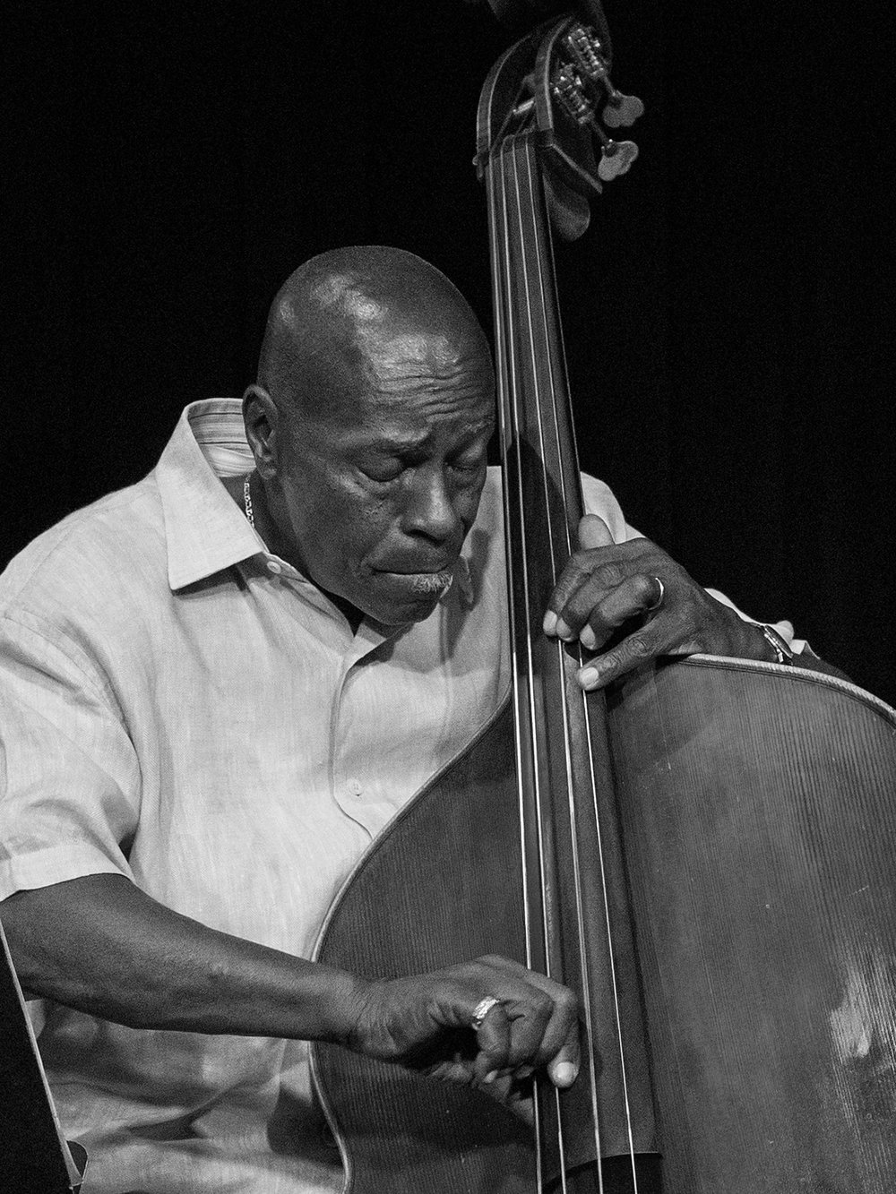 Bassist Curtis Lundy Sunday evening performing with the Bobby Watson Jazz Quartet at The Nash Phoenix.